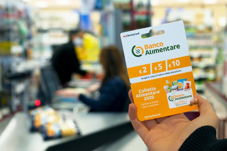 Charity Card Banco Alimentare al supermercato